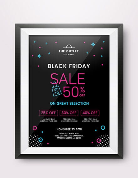 black friday promotional poster 1x