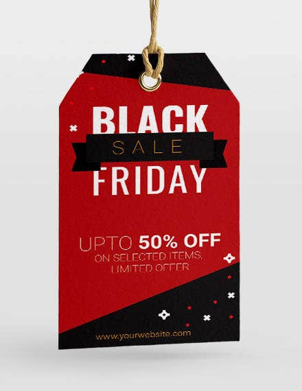 black friday sale tag template