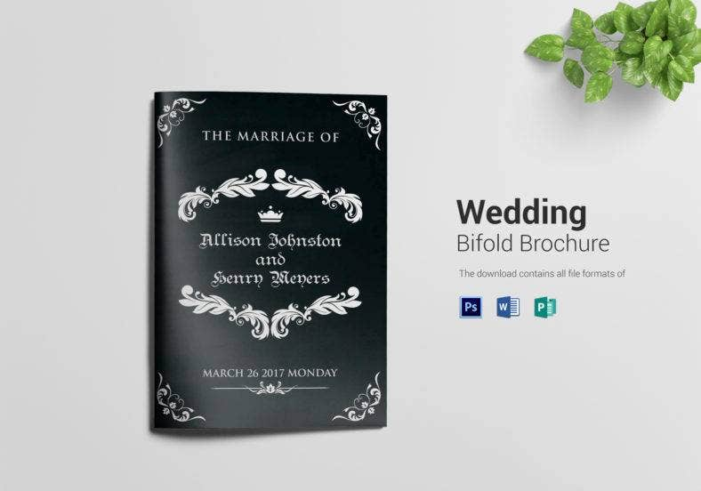 black wedding bi fold brochure template 788x552