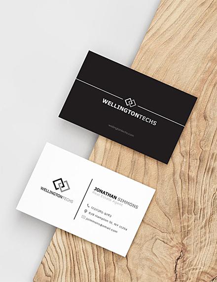 blank business card psd template