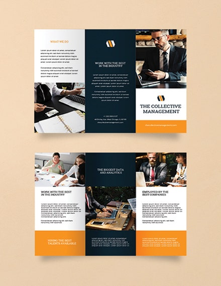 blank business trifold brochure design