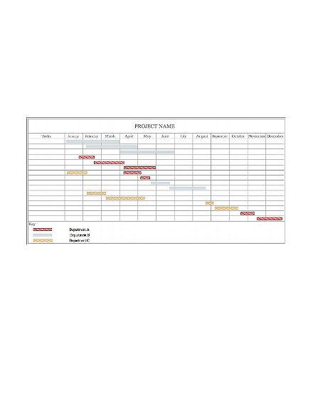 blank gantt chart template