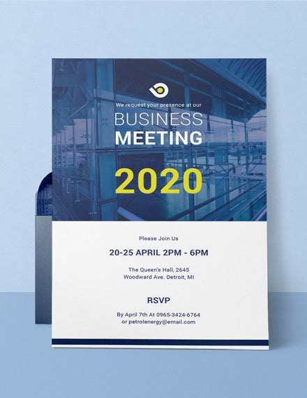 business meeting invitation template