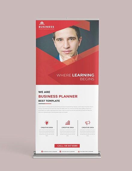 business roll up banner template in illustrator