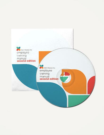 cd label psd template