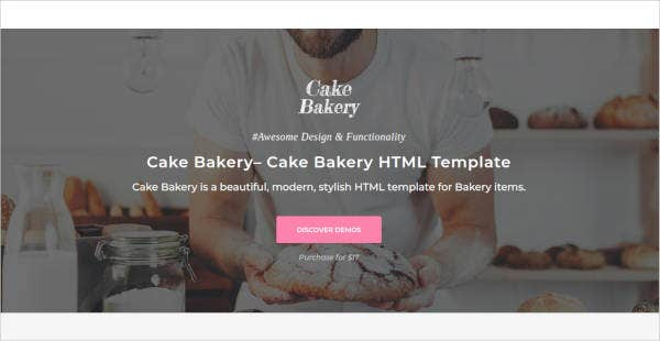 Cake Bakery Website Template