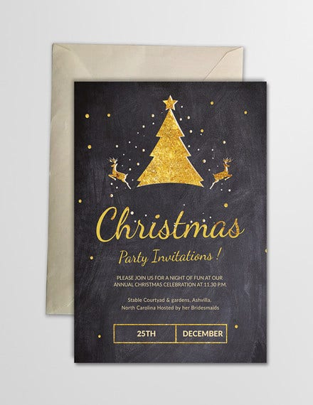 32 christmas party invitation templates psd vector ai eps