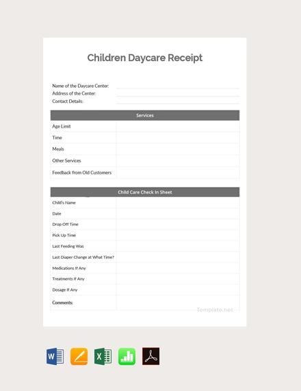 children daycare template