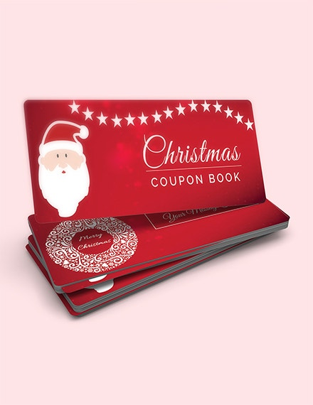 christmas blank coupon template