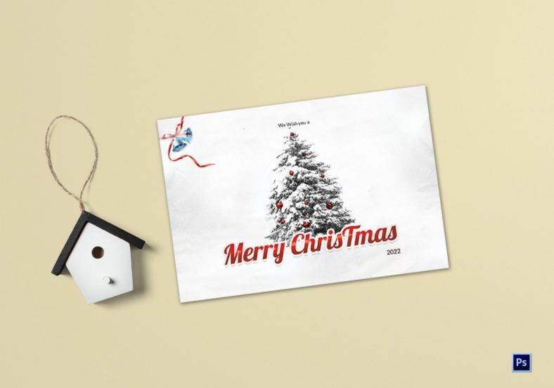 christmas holiday greeting card template psd 788x552