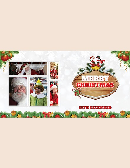 christmas invitation photo card template