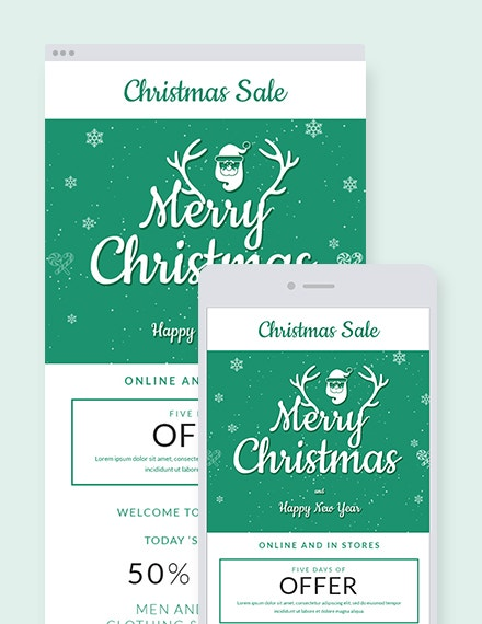 christmas offer email newsletter template