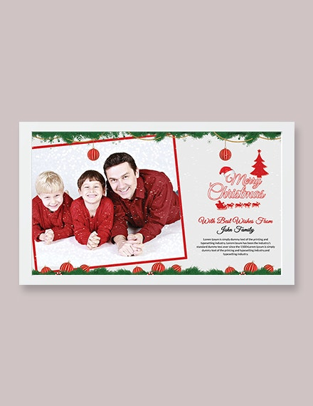 christmas wishes photo card template