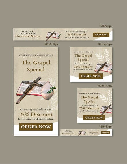church banner template psd