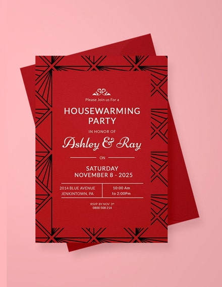 classic housewarming invitation template