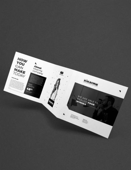 clean minimalist square brochure design