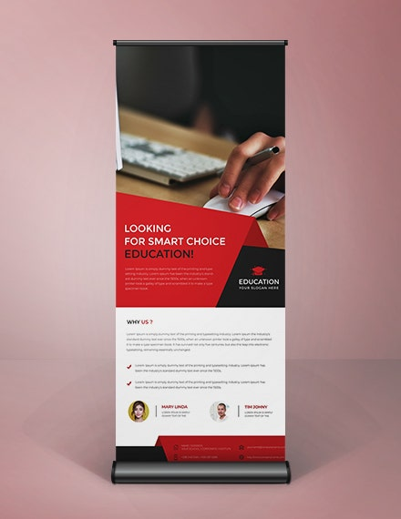 clean roll up banner template in illustrator