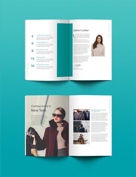 clothing magazine template
