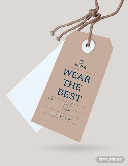 clothing tag template in psd