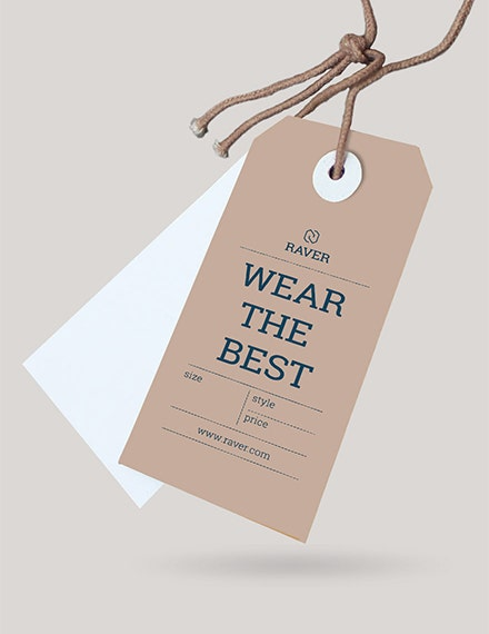 clothing tag template