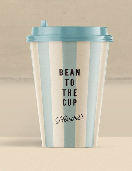 coffee cup label sample