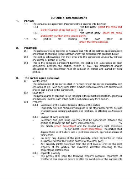 5 Relationship Agreement Templates Free Premium Templates