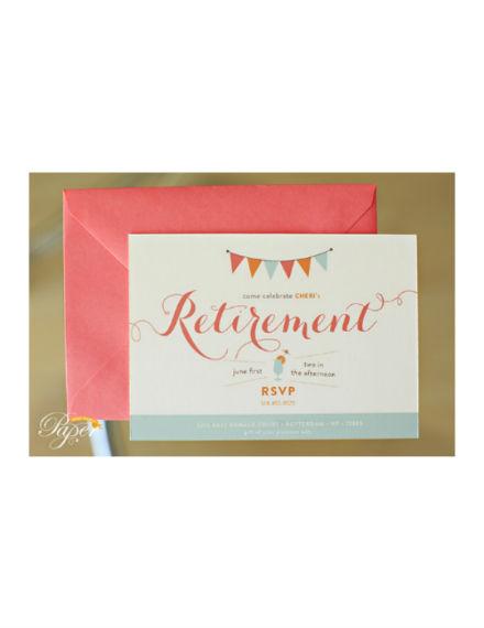 colorful retirement party invitation design