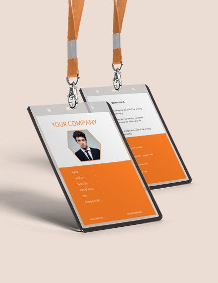 corporate blank id card template