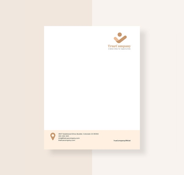 Executive Stationery Letterhead Business Letterhead 8370: 37+ Professional Letterhead Templates