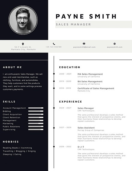corporate photo resume template