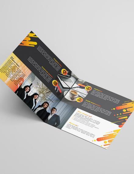 creative advertisement bifold brochure layout
