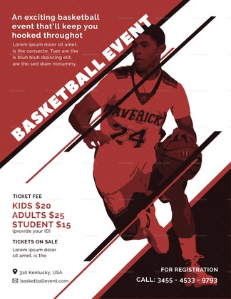 creative basketball event flyer design