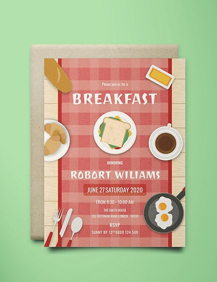 Creative Breakfast Party Invitation Template