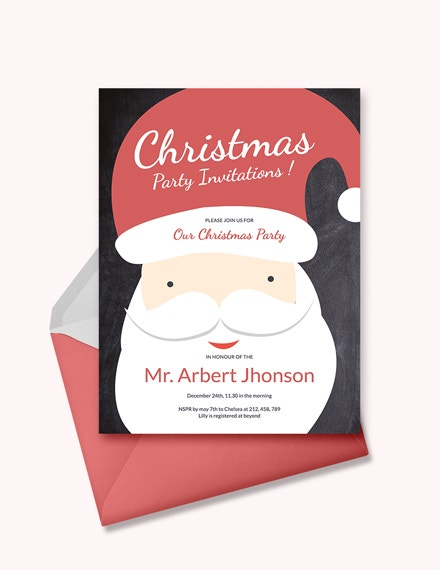creative christmas party invitation template