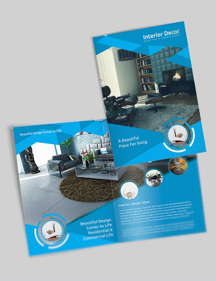 creative interior decor bifold brochure