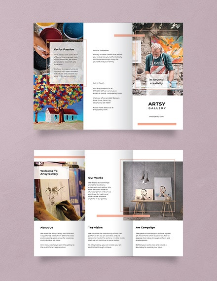 creative multipurpose trifold brochure template
