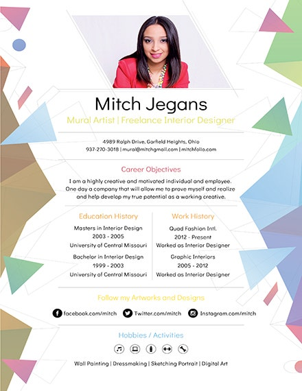 creative resume template1