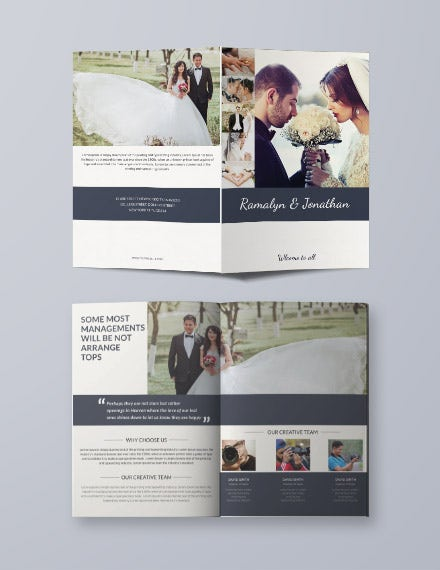 creative wedding bifold brochure template