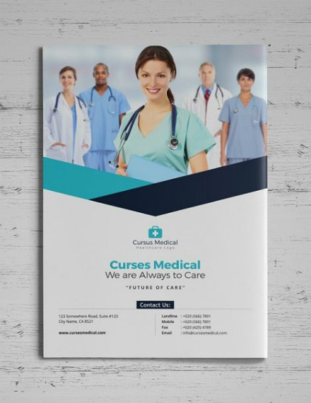 curses medical bifold brochure layout