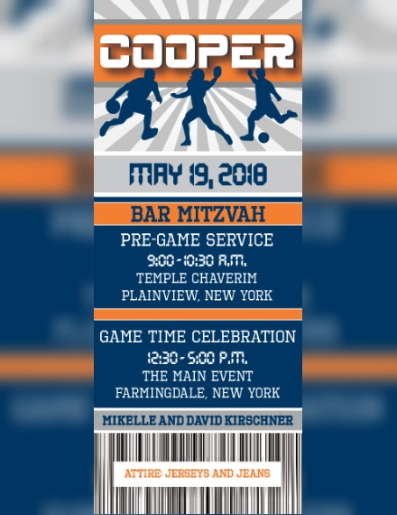 Custom Sports Event Invitation Format