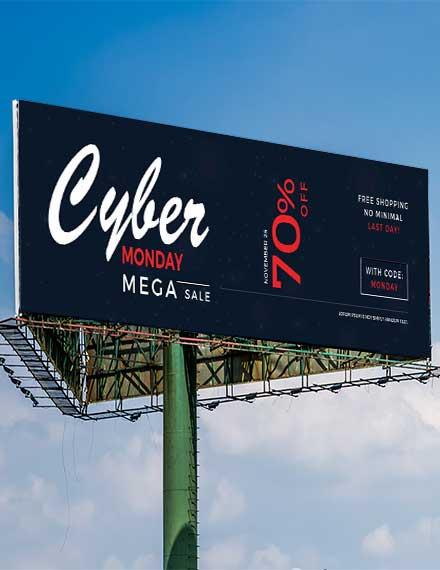 cyber monday billboard banner template