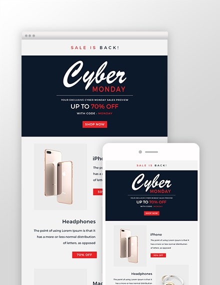 Cyber Monday Email Template