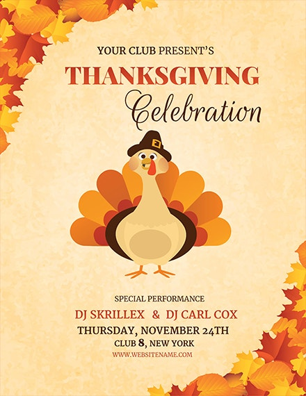 Inventive image in free printable thanksgiving flyer templates