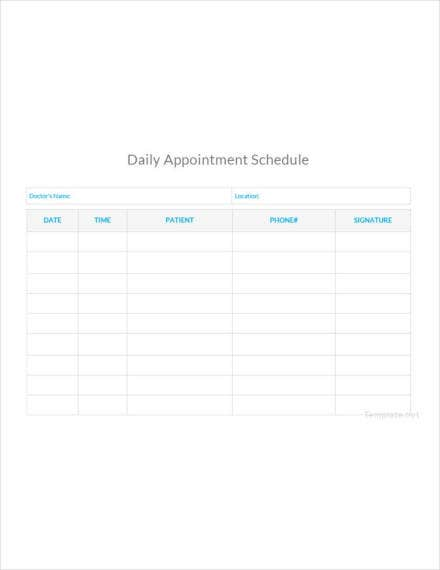 daily appointment schedule1