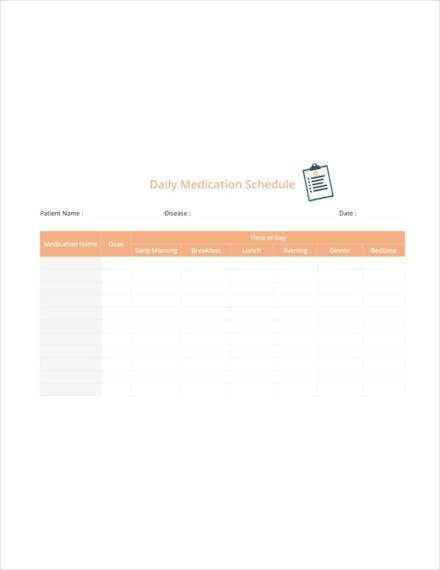 daily medication schedule1