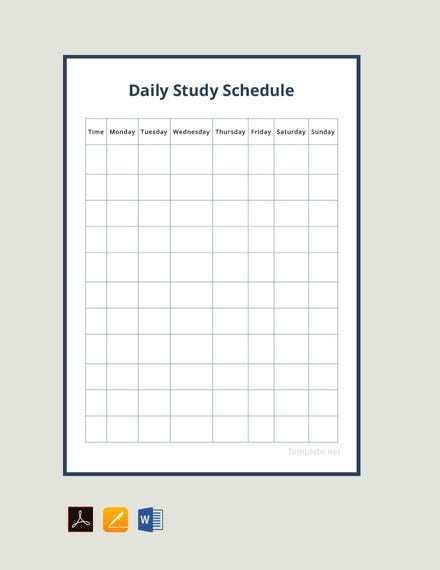 picture about Study Planner Printable called 19+ Review Agenda Templates - PDF, Docs Absolutely free High quality