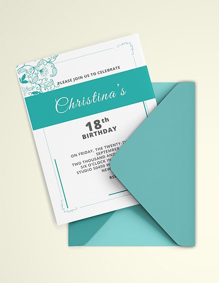 debut birthday invitation template