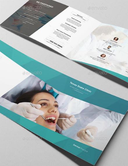 dental medical bifold brochure template
