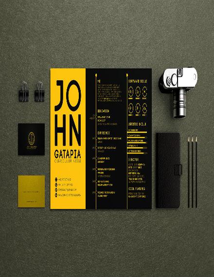 design resume template