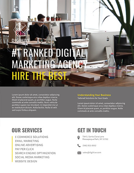 digital marketing flyer template 1x